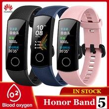 Оригинальный Смарт браслет Huawei Honor Band 5, Оксиметр, сенсорный экран, волшебный цвет, плавающий, обнаруживает пульс, сон, сон, Honor Band5