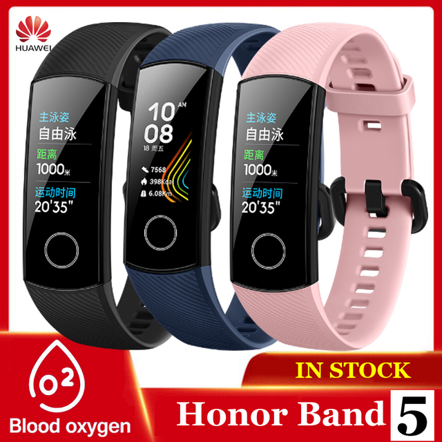 Originele Huawei Honor Band 5 Smart Polsband Oximeter Touch Screen Magic Kleur Zwemmen Detecteren Hartslag Slaap Dutje Honor Band5