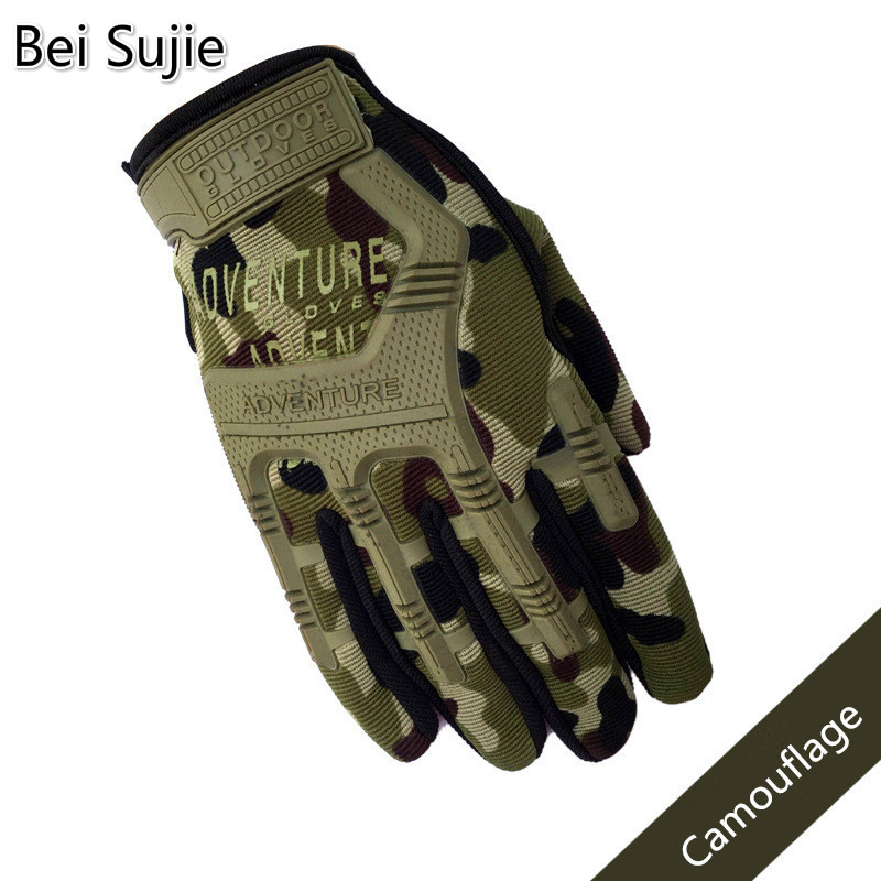 Tactical Combat Full Finger Gloves For Men Camouflage Paintball Military Shooting Gloves For SWAT Soldiers Bicycle Gloves
