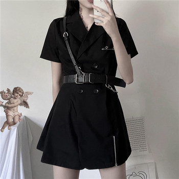 black gothic dress korean harajuku vintage mini suit summer dresses for women 2020 elegant office clothes cosplay