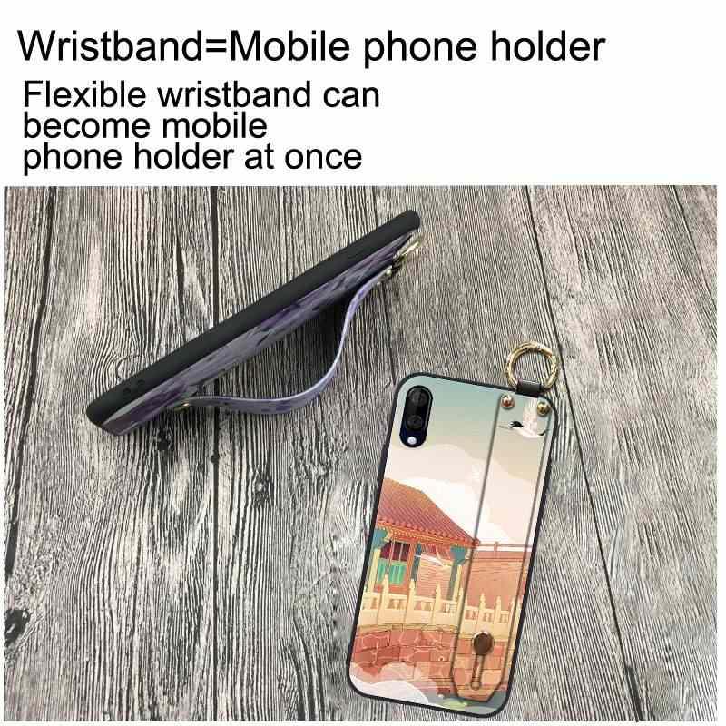 جراب هاتف صيني مقاوم للصدمات لهاتف Wiko View 3 Lite 6.09-inch سوار بتصميم عصري شريط مضاد للخبط حساس مطلي