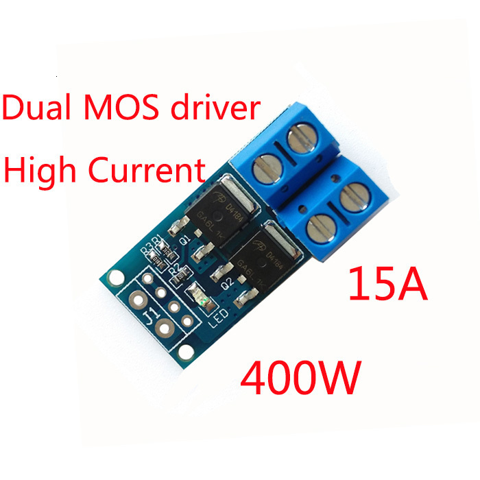15A 400W MOS FET Trigger Switch Drive Module PWM Regulator Control Panel for arduino