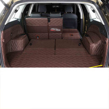 Lsrtw2017 Leather Car Trunk Floor Mat Cargo Liner for Skoda Kodiaq Rug Carpet Interior Accessories for lada largus 2012 2018 trunk mat floor rugs non slip polyurethane dirt protection interior trunk car styling