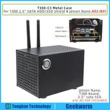NVIDIA Jetson Nano T300 Ốp Lưng Kim Loại Dành Cho NVIDIA Jetson Nano Nhà Phát Triển Bộ Và T300 2.5 Inch SATA SSD/HDD lưu Trữ Lá Chắn