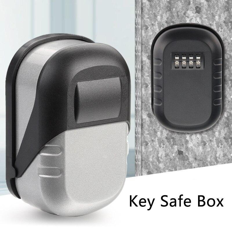 Замок для ключей, настенный, из алюминиевого сплава, сейф для ключей, 4 цифры, комбинация, замок для хранения ключей, коробка для хранения клю...