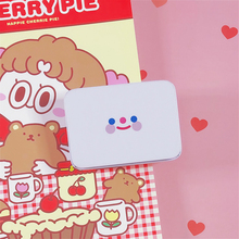 Simple Smiley Face Storage Box Girl Hand Account Tape Sticker Stationery Desktop Small Object