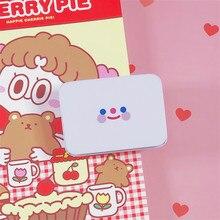 Boîte de rangement pour visage Smiley Simple, boîte de papeterie autocollante pour petit objet de bureau