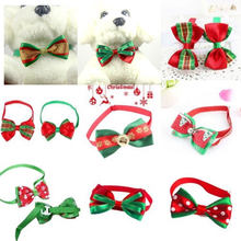 Tie Lovely Jewlery Colorful Puppy Necklace Bow Knot Multi-Pattern Cloth Gift Personilzed Pet Collar Christmas Prop Decor(China)