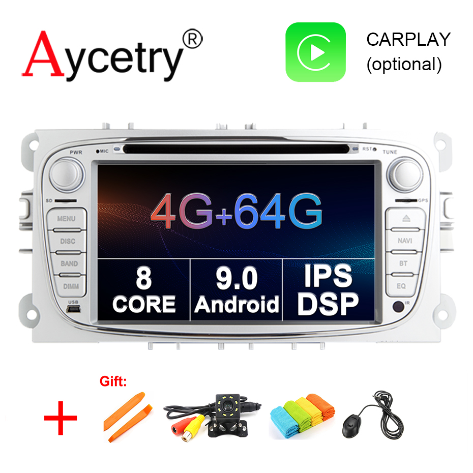 4G 64G Car DVD Multimedia Player Android 9 0 GPS 2 Din autoradio for FORD Focus