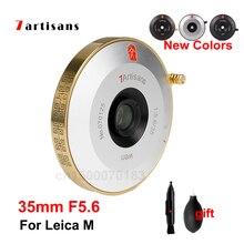 7 Nghệ Nhân 7 Nghệ Nhân 35Mm F5.6 Ống Kính Full Nguyên Bộ Khẩu Độ Lớn Ngàm Leica M Camera Len MF Cho Leica M Gắn Máy Ảnh M M M8 M9 M10