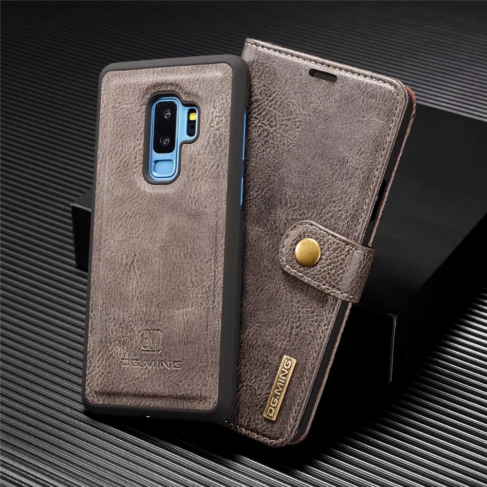Retro Magnetic 2 in 1 Leather Case for Samsung S7 Edge S10E S10 S9 S8 Plus Wallet Card