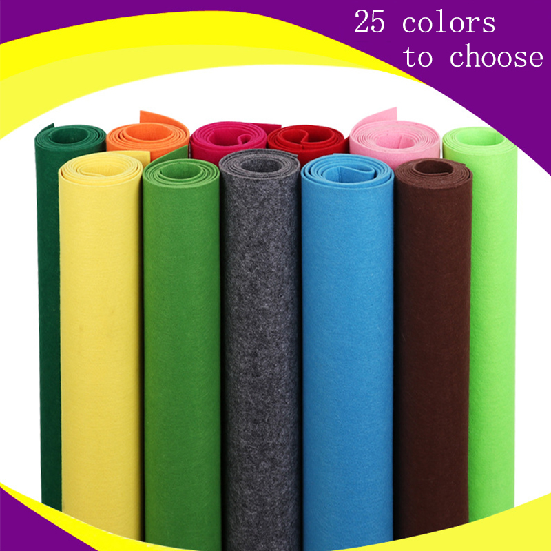 5M/3M/1M Handmade Nonwoven Fabric DIY Toys Gift Colorful Manual Felt Cloth Polyester Tablecloth Square Hand Crafts Exhibition