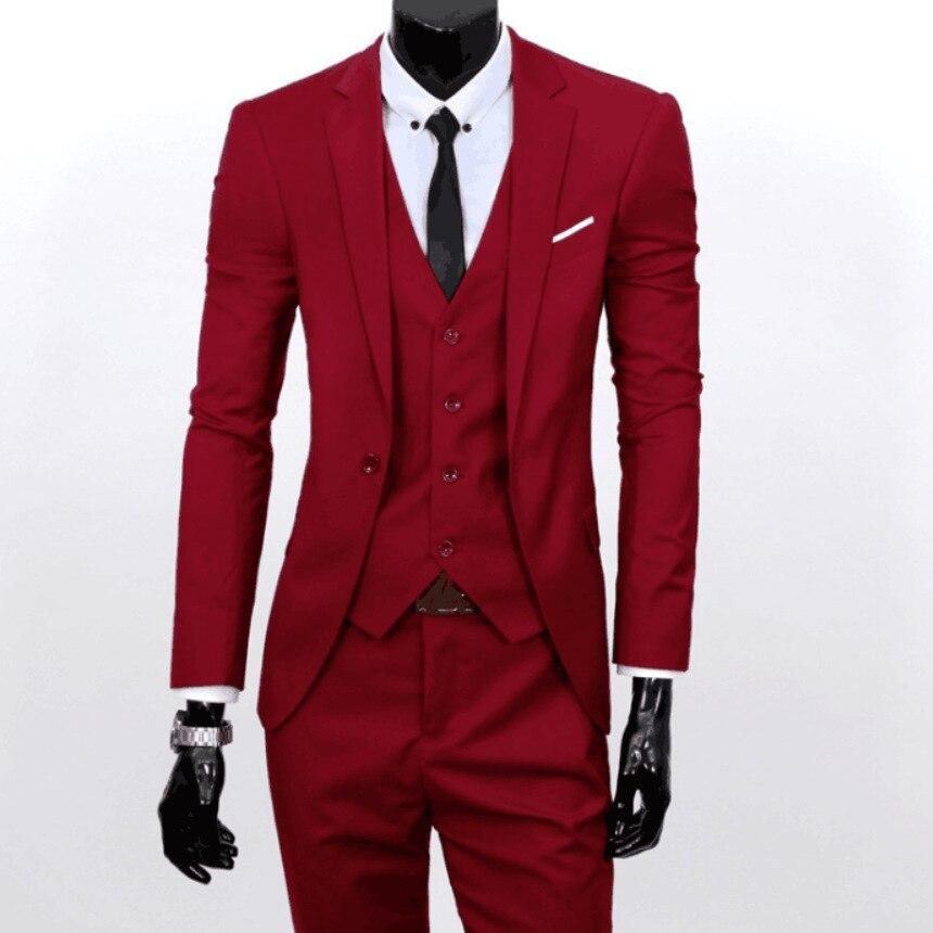 Suit Men Three-piece Set Business Formal Wear Suit Slim Fit Banquet Marriage Formal Dress 5001