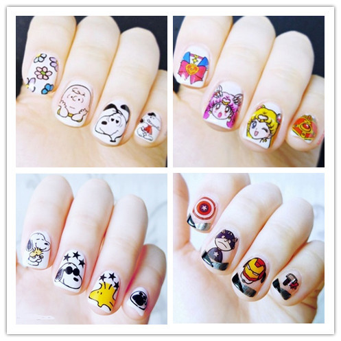 Top Form Brand Cartoon Watermarking Adhesive Paper Flower Stickers Nail Sticker South Korea Nail Sticker Dls365-382