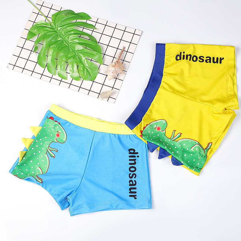 Cross Border New Style KID'S Swimwear BOY'S Cartoon Dinosaur Swimming Trunks Children Male Baby Swimming Trunks CHILDREN'S Swimm