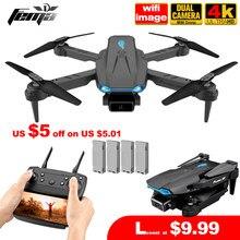 Fema mini s89 pro zangão com 4k hd câmera dupla 1080p wifi fpv altitude hold dobrável quadcopter dron presente profissional pk e88