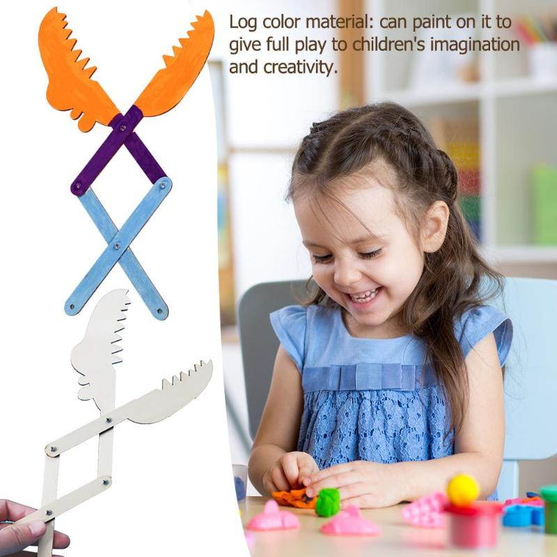 Wooden Mechanical Arm Model DIY Children Toy Education Science Experiment  Children's Imagination And Creativity