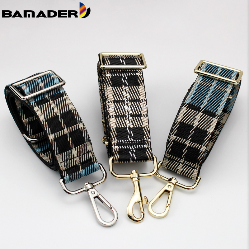 BAMADER Adjustable Bag Strap Checkered Pattern Handbag Belt Wide Shoulder Bag Strap Replacement Adjustable Bag Accessories Parts