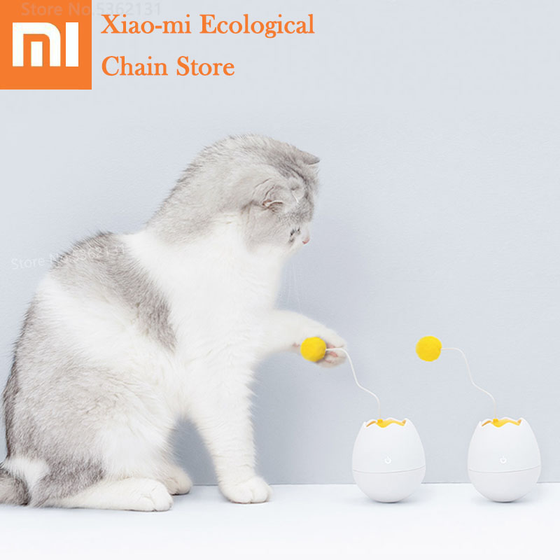 Xiaomi Furrytail Electronic Motion Cat Toy Smart Interactive Toys Pet Funny Companion Flutter Rotating Interactive Puzzle Toys