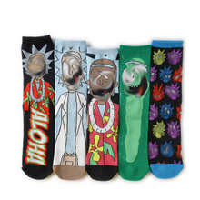 Рик новинка аниме носки мужчины хип хоп мультфильм фильм прикол кальцетины уличная одежда скейтборд баскетбол носки