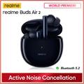 Realme Knospen Air 2 ANC Drahtlose Kopfhörer 88ms Super Niedrige Latenz 25h Wiedergabe Spiel Musik Sport Bluetooth Kopfhörer echt Lager