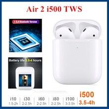 i500 TWS Wireless Bluetooth Earbuds Air2 Replica 1:1 In-ear Smart Sensor Pop up 6D Super Bass Earphone PK i200  i20 i60 i80 i100