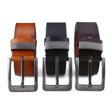 Stile PU pelle artificiale per uomo fibbia nera di alta qualità Jeans cintura cinture Casual cintura da lavoro cintura da Cowboy 2021 nuovo