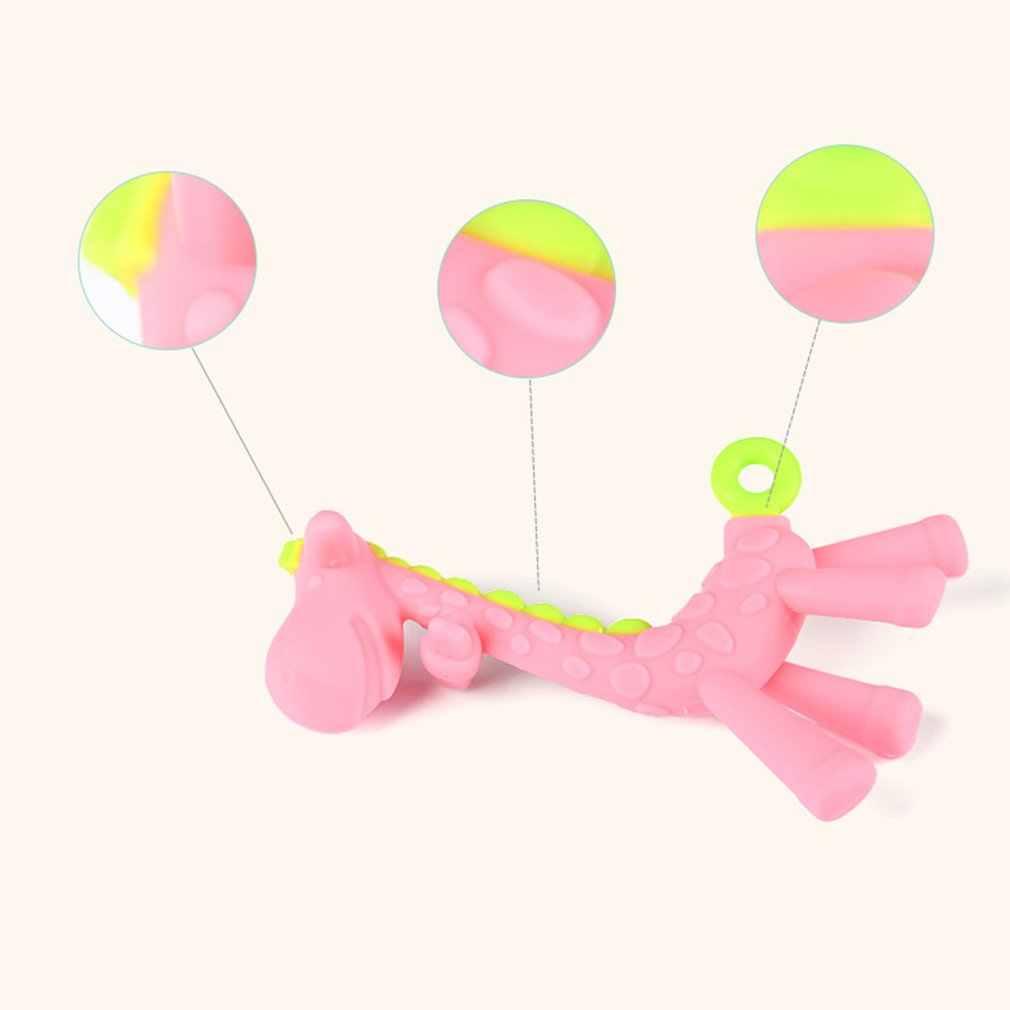 Bebê mordedores girafa & deer goma vara dente grau alimentício sílica gel dentição bpa livre seguro infantil chupeta cuidados dentários mastigar brinquedo