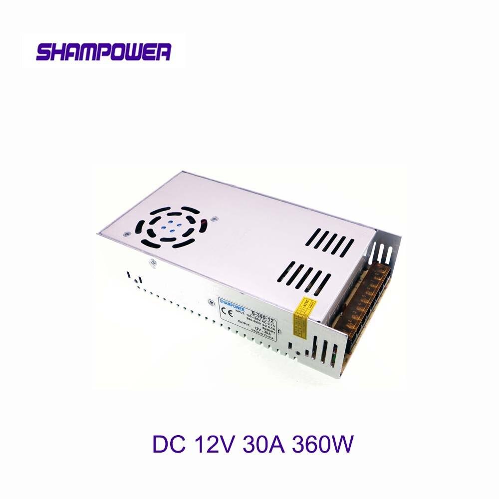 DC 12V Big Power Supply 360W 30A AC 110V/220V To DC 12V Switch Power Supply Security Adapter Power Supply For LED Strip Light