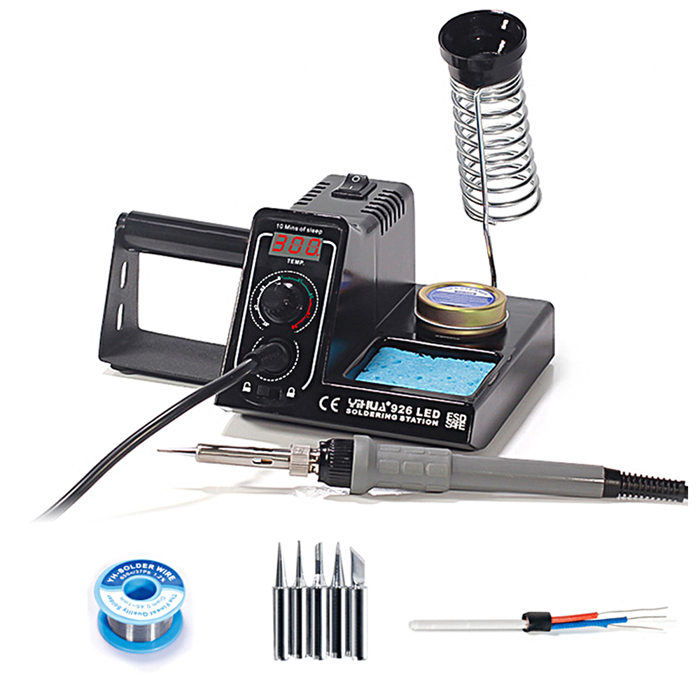 926LED Soldering Station Iron Tools Temperature Control Welding Stand 60W Digital Solder Rework Holder Machine With Tip Flux