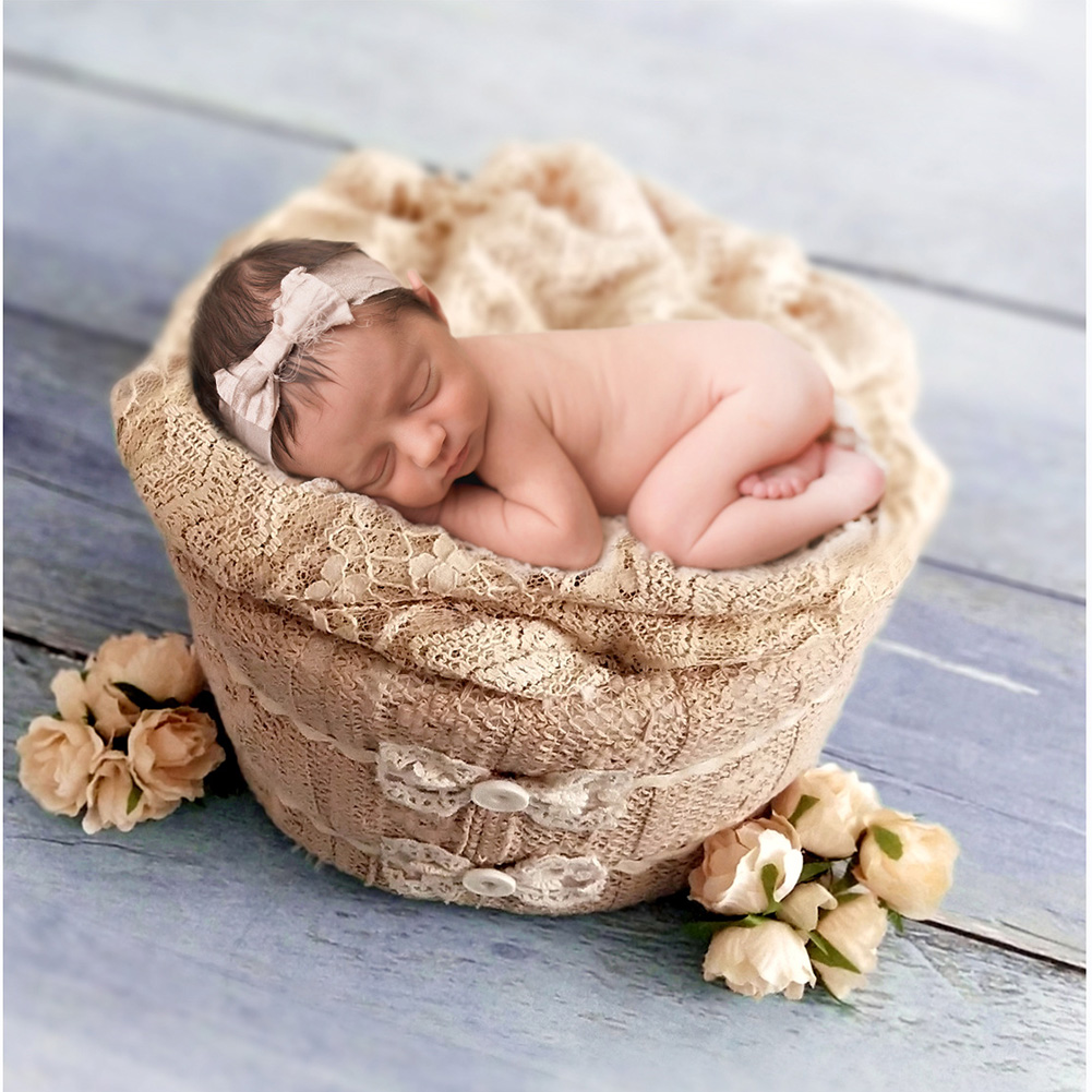 Small Frame Newborn Foam Cotton Accessories Gift Props Studio Photography Basket Birthday Round Styling Shower Gift Baby