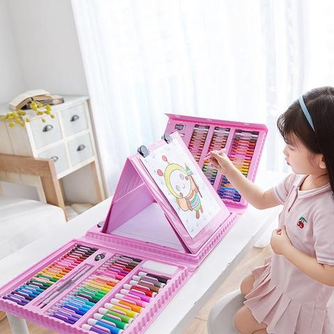 208 pcs conjunto de lapis colorido lapis lapis lapis aquarelas canetas desenho conjunto brinquedo arte