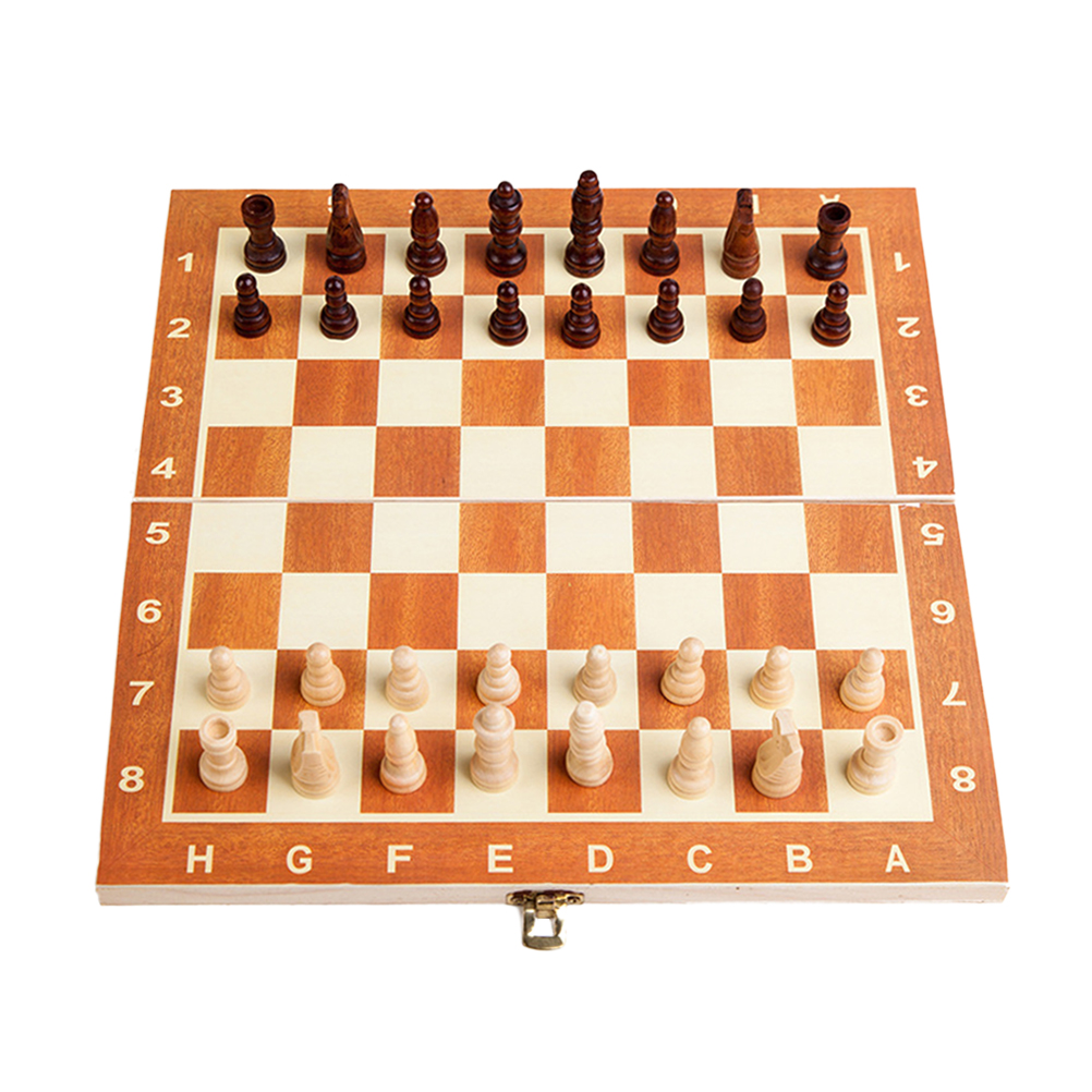 Foldable Board Chess Game Travel Portable Chess Set International Chess Set Playing Gift For Kids Child