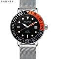Parnis42mm Новинка 2017 мужские часы автоматический механизм часов Miyota светящаяся стальная сетка с сапфировым зеркалом механические часы