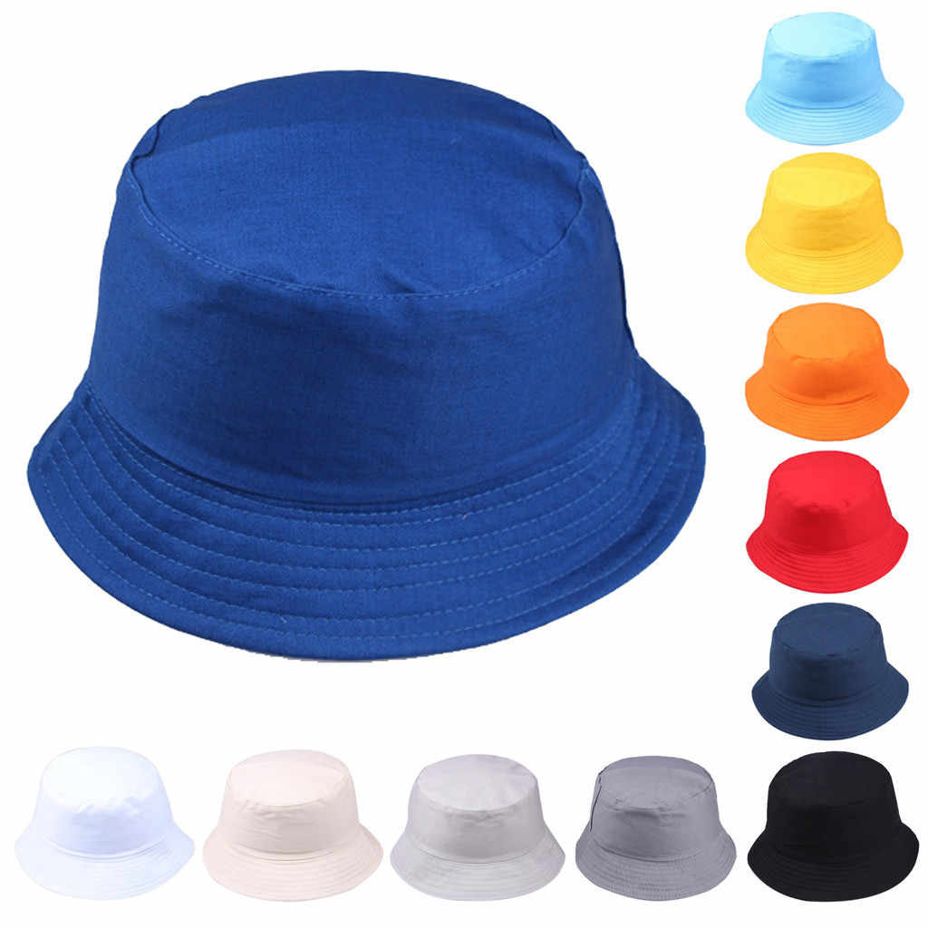 Bucket Hat Unisex Summer Foldable Women Outdoor Sunscreen Cotton Fishing Hunting Cap Men Basin Chapeau Sun Prevent Hats #L5