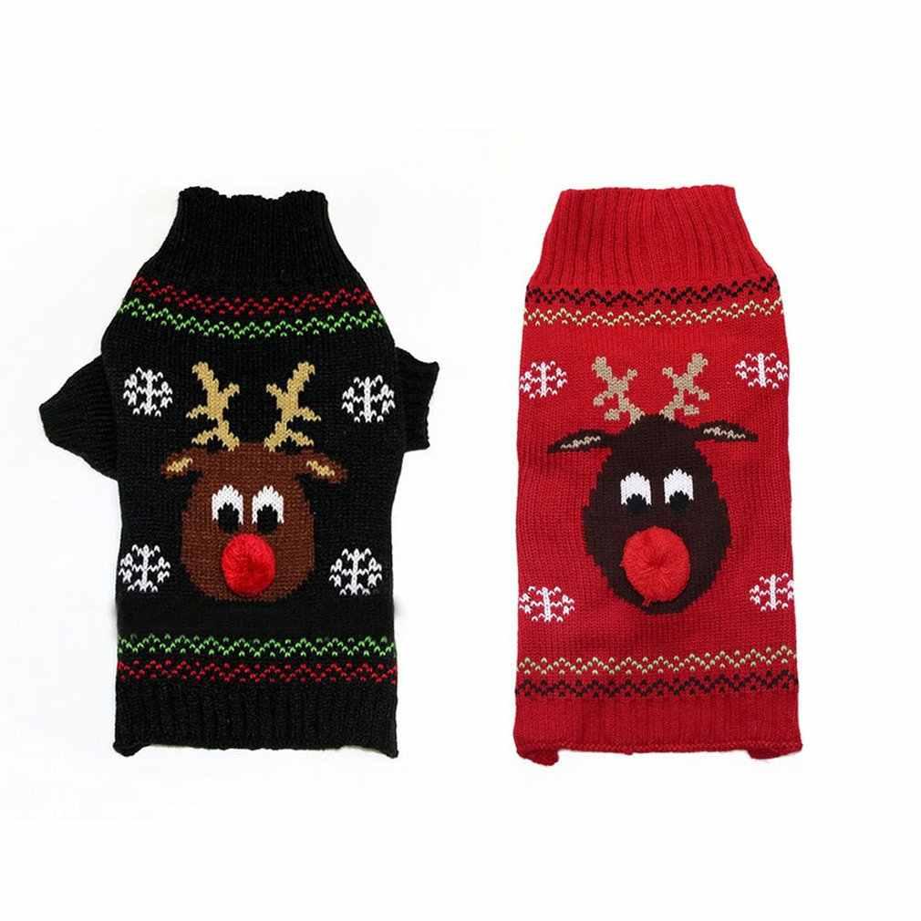 Wolle Mäntel Hund Weihnachten Schöne Weihnachten Pet Kleidung Rot Nase Deer Pet Pullover Vip Teddy Kleine, Mittlere Und Große Haustier hund Pullover