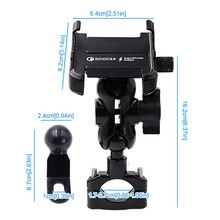 Wasserdicht Metall Motorrad Smartphone Halterung mit QC 3,0 USB Schnell Ladegerät Motorrad Spiegel Lenker Stehen Halter