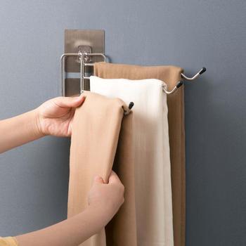 Naścienny wieszak obrotowy na ręczniki wieszak na ręczniki ze stali nierdzewnej wieszak na ręczniki z darmowym przepychaczem schowek na ręczniki półka tanie i dobre opinie Typ ścienny WD7058