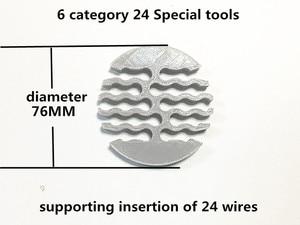 Image 2 - עבה חדש 5 קטגוריה/6 קטגוריה רשת מודול רשת כבל מסרק מכונה חוט לרתום הסדר מסודר כלים עבור מחשב חדר