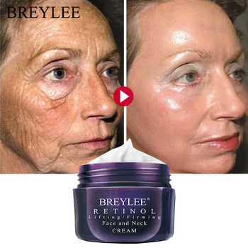 BREYLEE Retinol Firming Face Cream Lifting Neck Anti-Aging Remove Wrinkles Night Day Moisturizer Whitening Facial Skin Care 40g