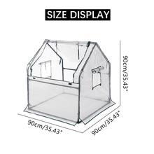 New 90x90x90cm Mini Greenhouse Kit Home Outdoor Flowers Plants Gardening Room Wi
