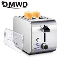 DMWD Электрический автоматический прибор для хлеба тостер быстрый нагрев сэндвич-машина из нержавеющей стали тост машина для завтрака, для кухни инструменты для приготовления пищи