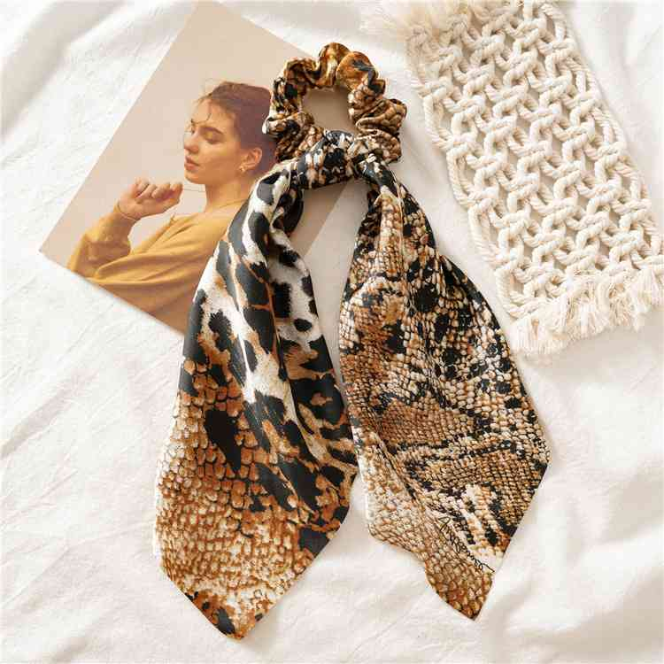 Hea9f4deff80940df8af0b664ab559055P - Vintage scarf, bowknot Women Hair Ponytail Holder, Rubber Serpentine Summer headbands Elastic Hair ties for Girls
