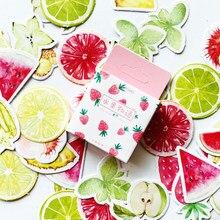 45 unidades/pacote bonito a história de frutas verão frutas adesivos scrapbooking diy diário álbum vara etiqueta decoração papelaria