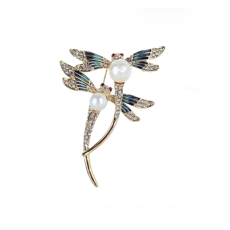 New 2019 brooch dragonfly brooches fashion high-grade pin retro animals garment accessories