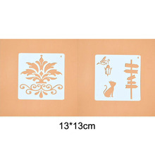 2pc Openwork Template Bullet Journal Engraving Drawing Stencil Scrapbooking Album Decorative Embossing Template Drawing Reusable butterfly reusable stencil for scrapbooking stamping embossing paper card drawing template stencil crafts bullet journal stencil