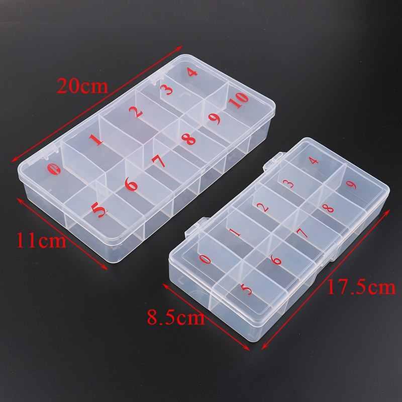 10/11 акриловый пластиковый чехол для хранения накладных насадок для маникюра, натуральный прозрачный чехол для маникюра