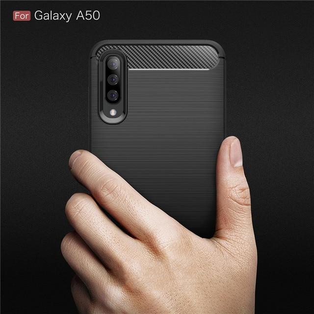 For Samsung Galaxy A10 A20 A30 A40 A50 A60 A70 A10E A20E A70E Case Carbon Fiber Cover for A10S A20S A30S A50S A70S A90S A21S 6