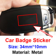 10 Uds coche de Metal pegatinas accesorios con logotipo para coche para S línea Sline Audi A3 A4 A4L A6L TT Q3 Q5 Q7 A5 A7 S3 S4 S5 S6 S8 RS3 RS4 RS5