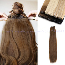 Vlasy Hair Weave Bundles Straight Machine Made Remy 100% Human Hair Double Weft Sew In Natural Hair Extensions 20'' 24'' 100g/pc